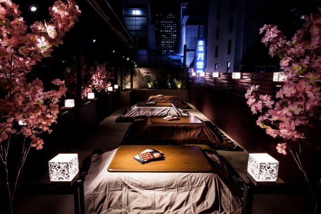 春爛漫!バネバグース赤坂見附店「桜こたつテラス」&「桜BBQ」スタート!
