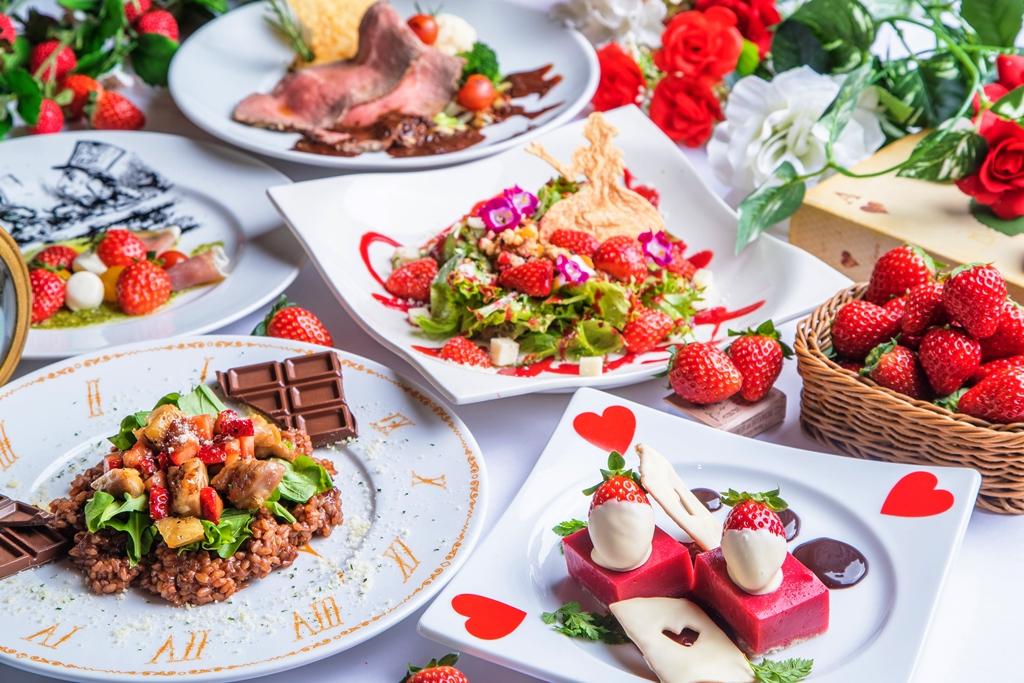 「いちご&チョコの魔法に掛かる春のスぺシャルコース」〜アリスのファンタジーレストランで予約受付中〜